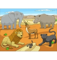 Educational game for children african savannah vector