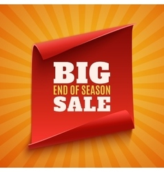 Big end of season sale poster vector