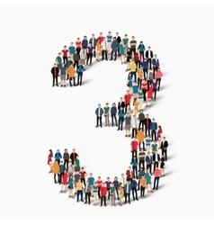 group people shape figure 3 vector image