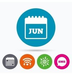 Calendar sign icon june month symbol vector