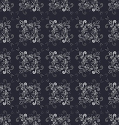Seamless floral grayscale pattern vector