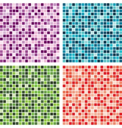 abstract tile backgrounds vector image vector image