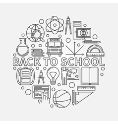 Back to school circular sign vector image