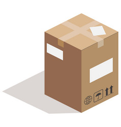 Carton box on white vector