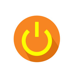 computer power button icon on an isolated white vector image vector image