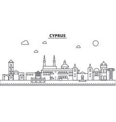 cyprus architecture line skyline vector image