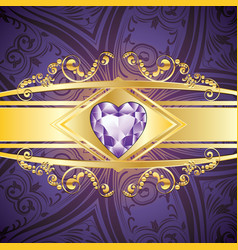 Decorative background with amethyst vector
