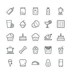 Food cool icons 9 vector
