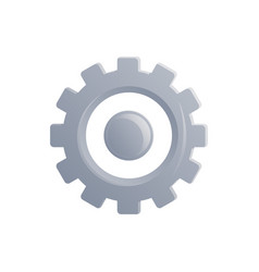 gear icon in flat style vector image vector image