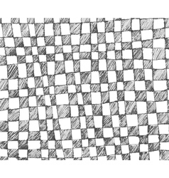 hand drawn checkered pattern vector image