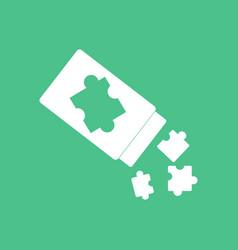 Icon on background last piece puzzle vector