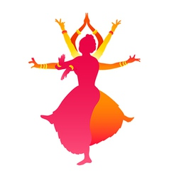 Indian female dance vector