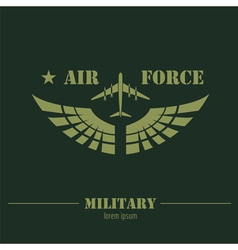 Military logo and badge air force graphic template vector