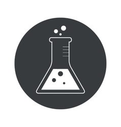 Monochrome round conical flask icon vector