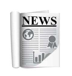 Newspaper on a white background vector image