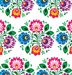 Seamless traditional floral pattern from Poland vector image vector image