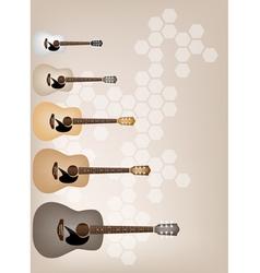 Set of Elegance on Beautiful Brown Background vector image