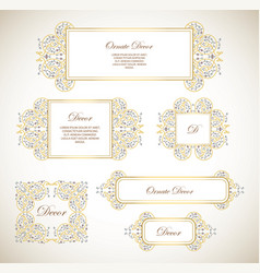 Set ornamental decorative fram vector