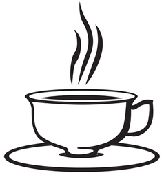 teacup vector image