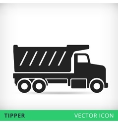 Tipper flat icon vector image