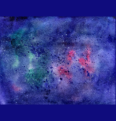 watercolor space texture with stars universe vector image vector image