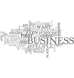 Why do you want to start a home business text vector