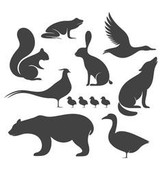 Wild Animals Silhouette vector image vector image