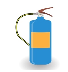 Blue Fire Extinguisher Isolated on White vector image