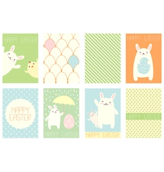 Collection of easter banner vector