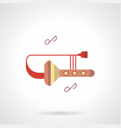 Trombone club flat color icon vector