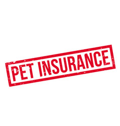 Pet insurance rubber stamp vector