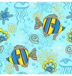 marine blue seamless vector image
