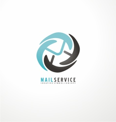Mail service logo design template vector image