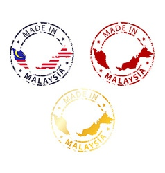 Made in malaysia stamp vector