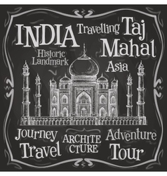 India logo design template taj mahal or vector