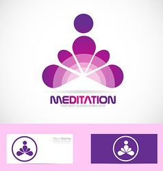 Meditation yoga zen logo vector
