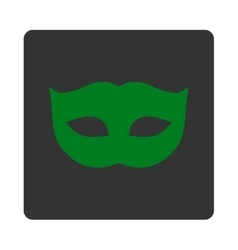 Privacy mask flat green and gray colors rounded vector