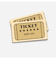 Retro cinema tickets on white background vector