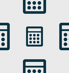 Calculator sign icon bookkeeping symbol seamless vector