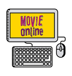 Movie online design vector