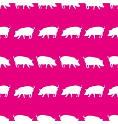 Pig shadows silhouette in lines pink pattern eps10 vector
