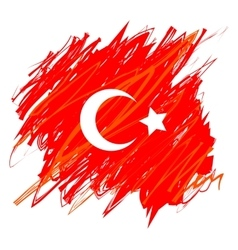 Turkish national flag vector