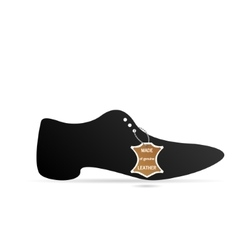 Mens shoes with tag vector