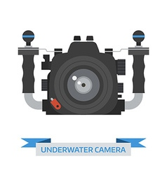 Underwater camera icon vector