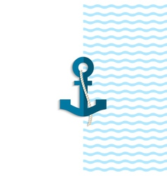 Anchor from paper vector image vector image