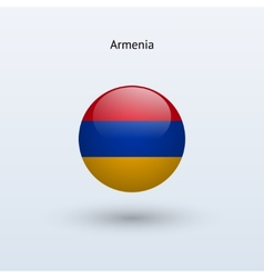 Armenia round flag vector