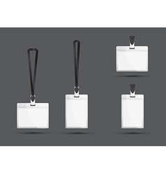 Black lanyards vector