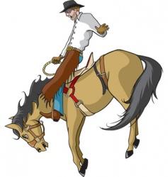 bronco rider vector image vector image