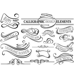 Calligraphic Elements vector image vector image