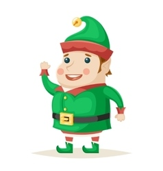 Christmas Elf Character New Year Isolated Icon vector image vector image